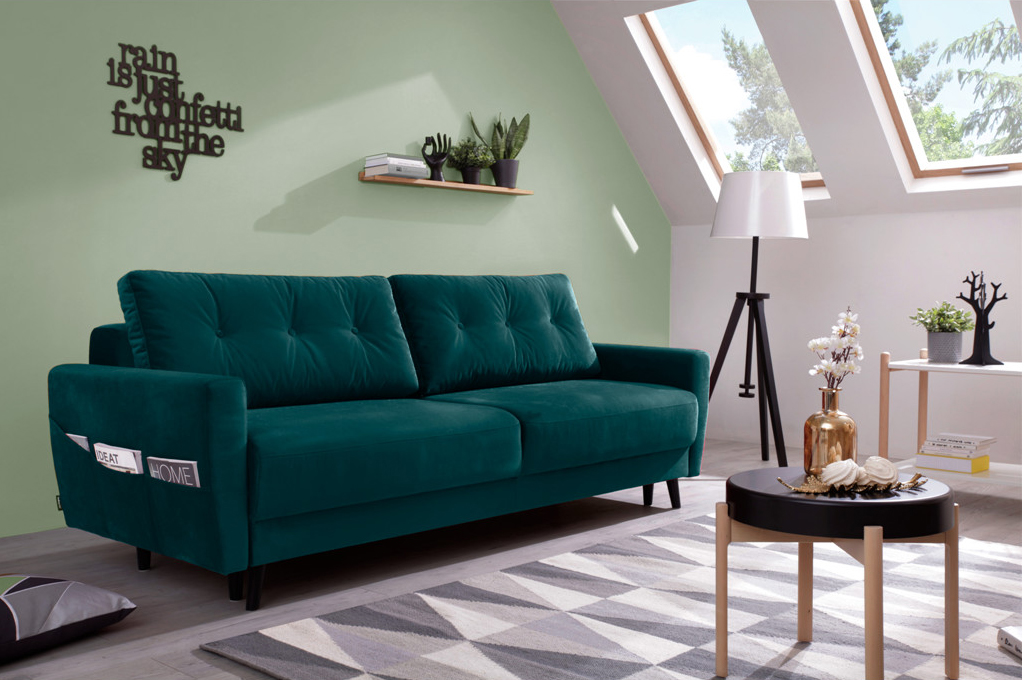 canapé convertible salon studio petit espace chambre de bonnes comble aménagé