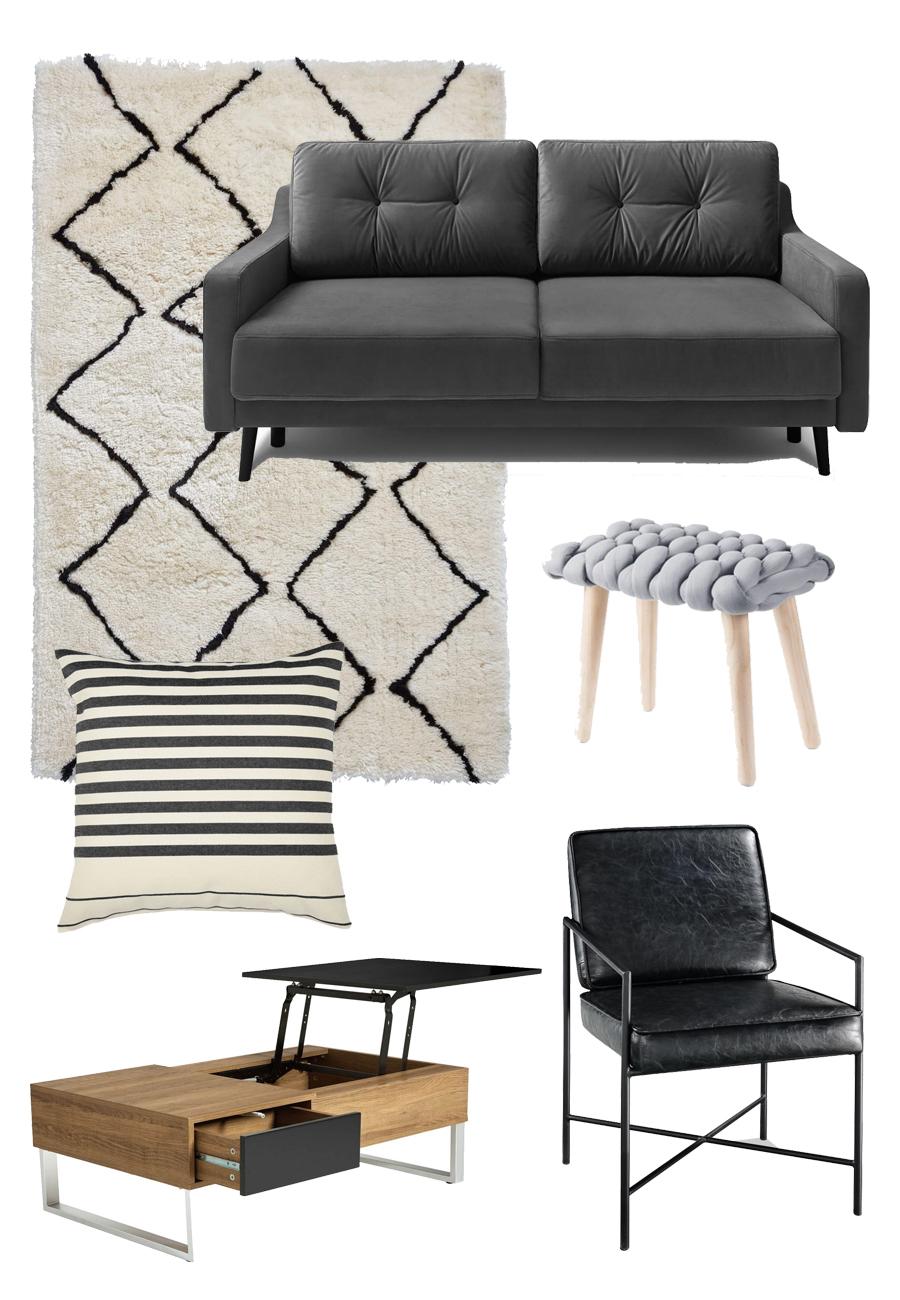 sélection meubles appartement étudiant style industriel bobochic salon design