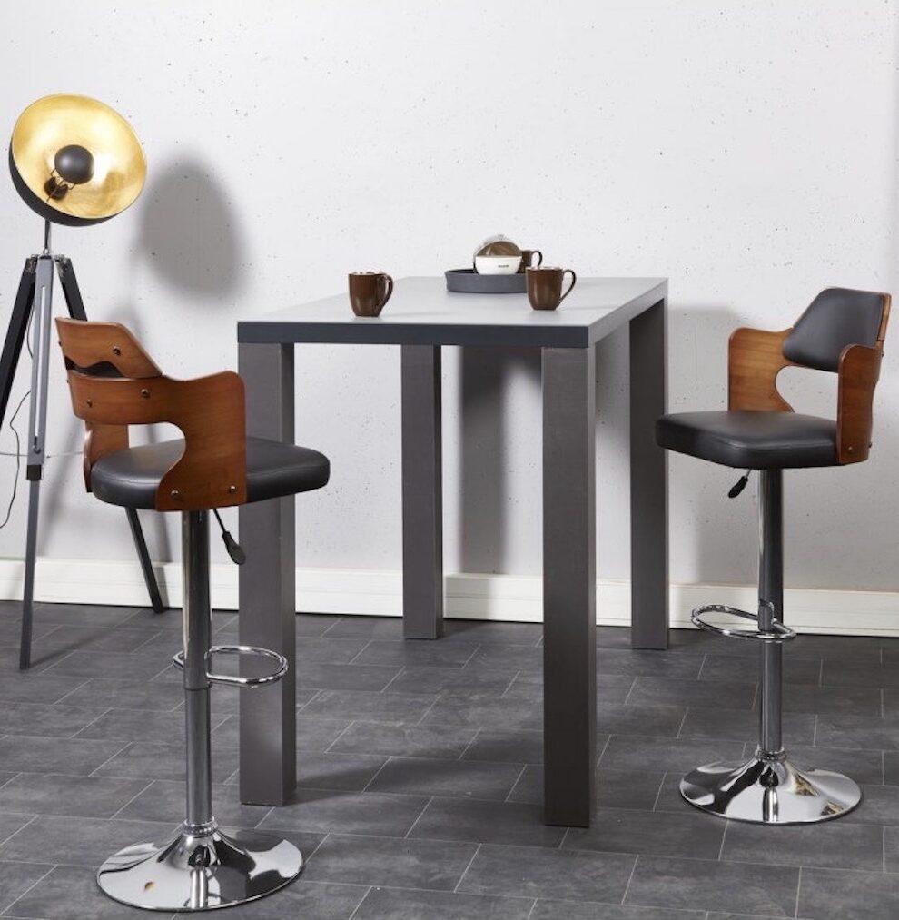 tabouret fauteuil bar style industriel loft atelier retro cuir métal réglable hauteur
