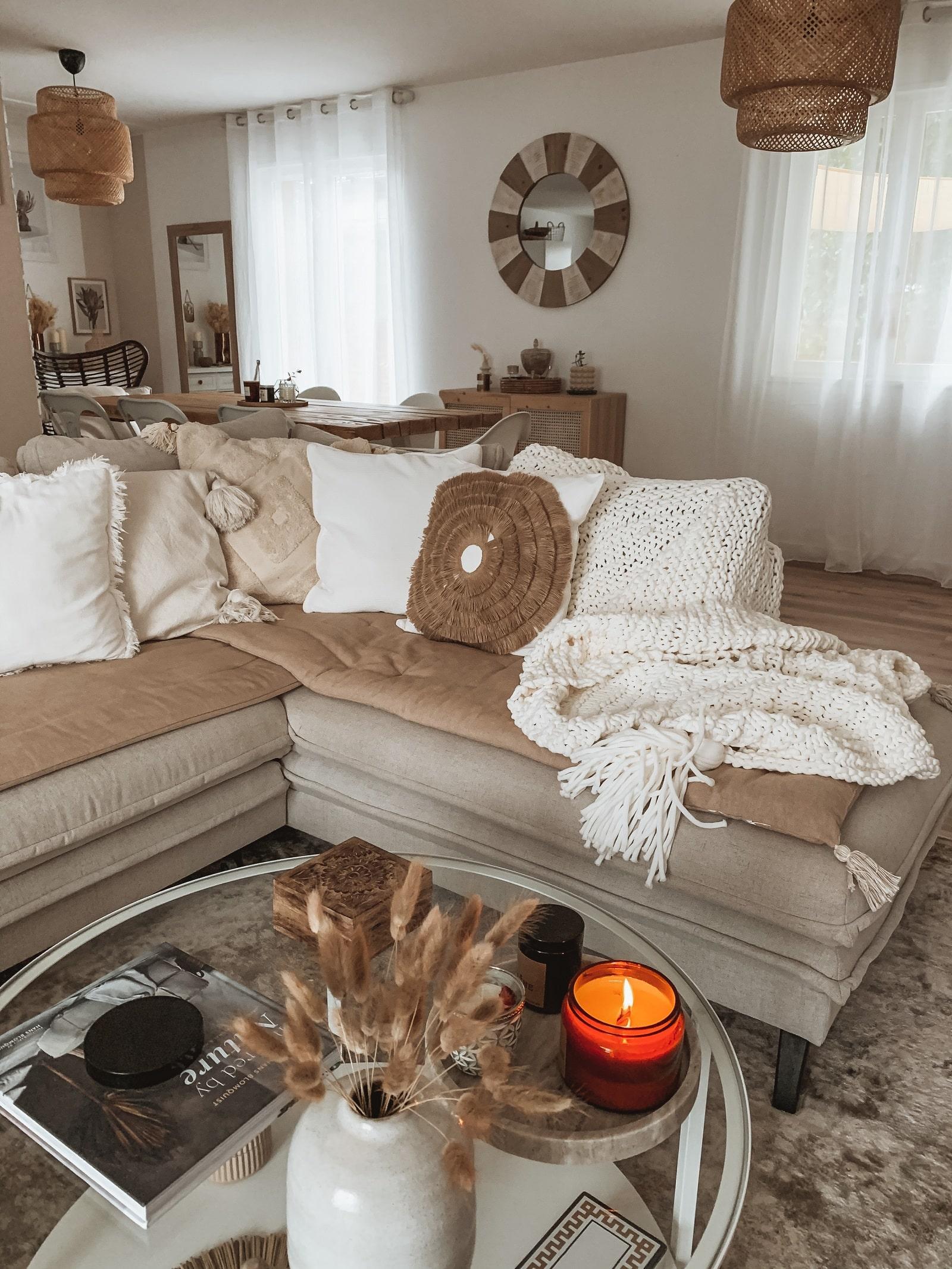 decoration interieur avec canape bobochic