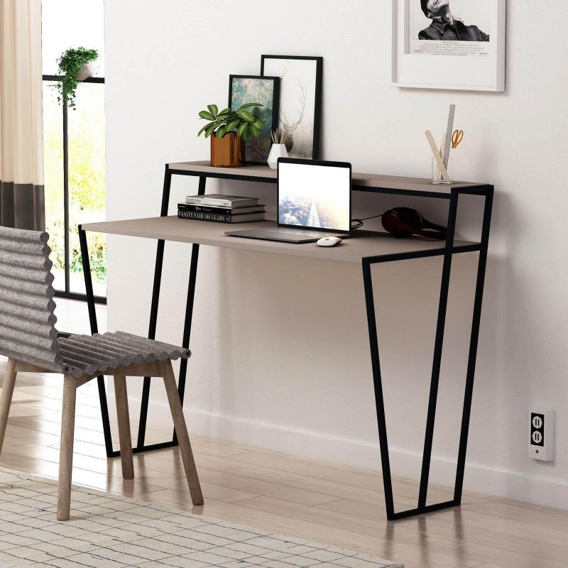 aménager coin bureau maison salon cosy confortable industriel design mobilier français Bobochic