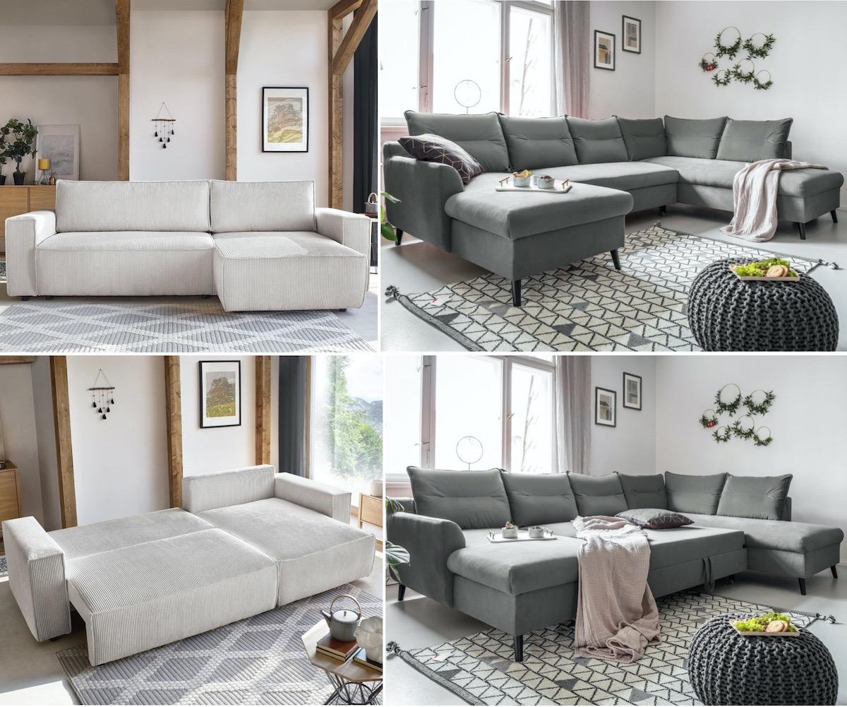 canapé lit velours intérieur cosy déco salon hiver meuble Bobochic