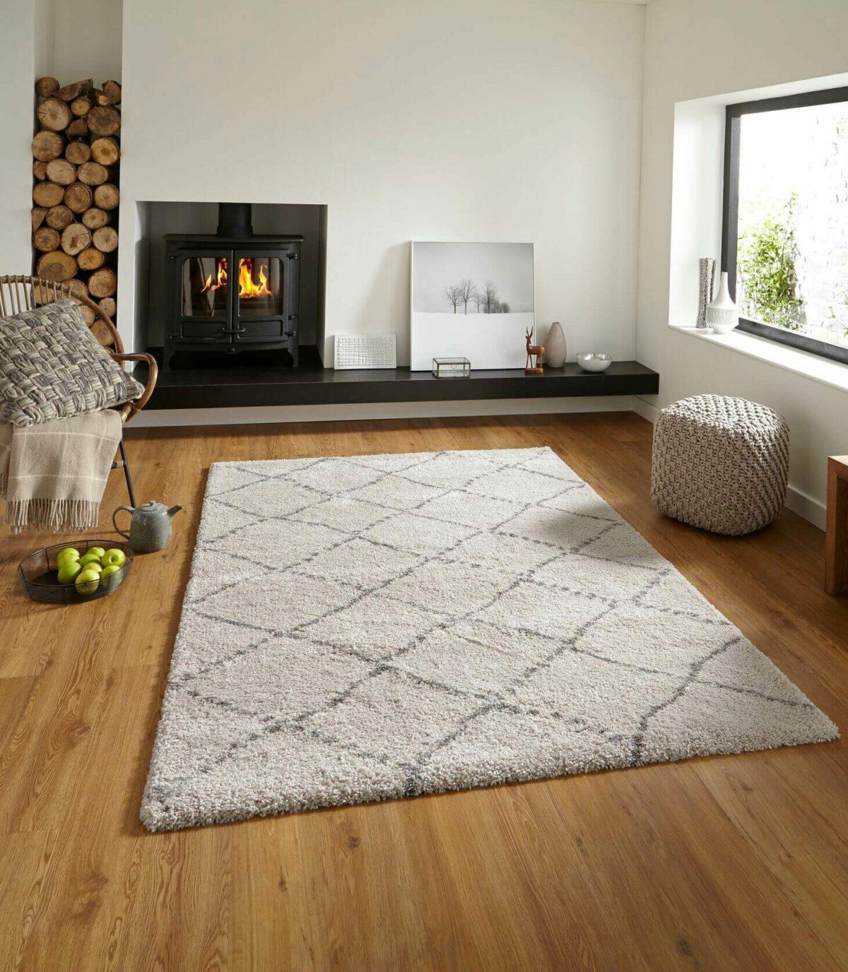 comment choisir tapis salon style hygge cosy shaggy Bobochic