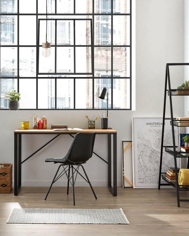 espace télétravail chambre verrière coin bureau maison design style industriel