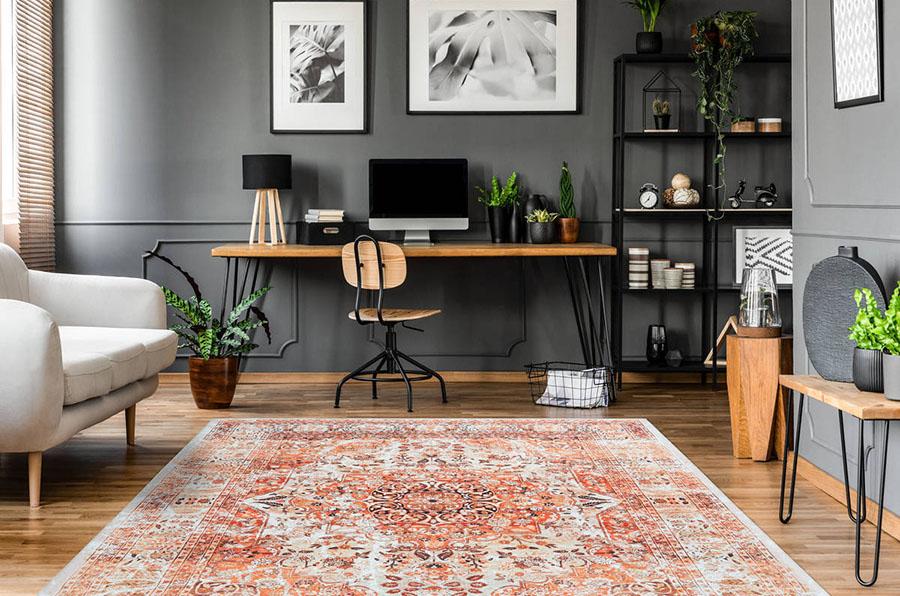 tapis orange décoration automnale maison bureau bobochic meuble design