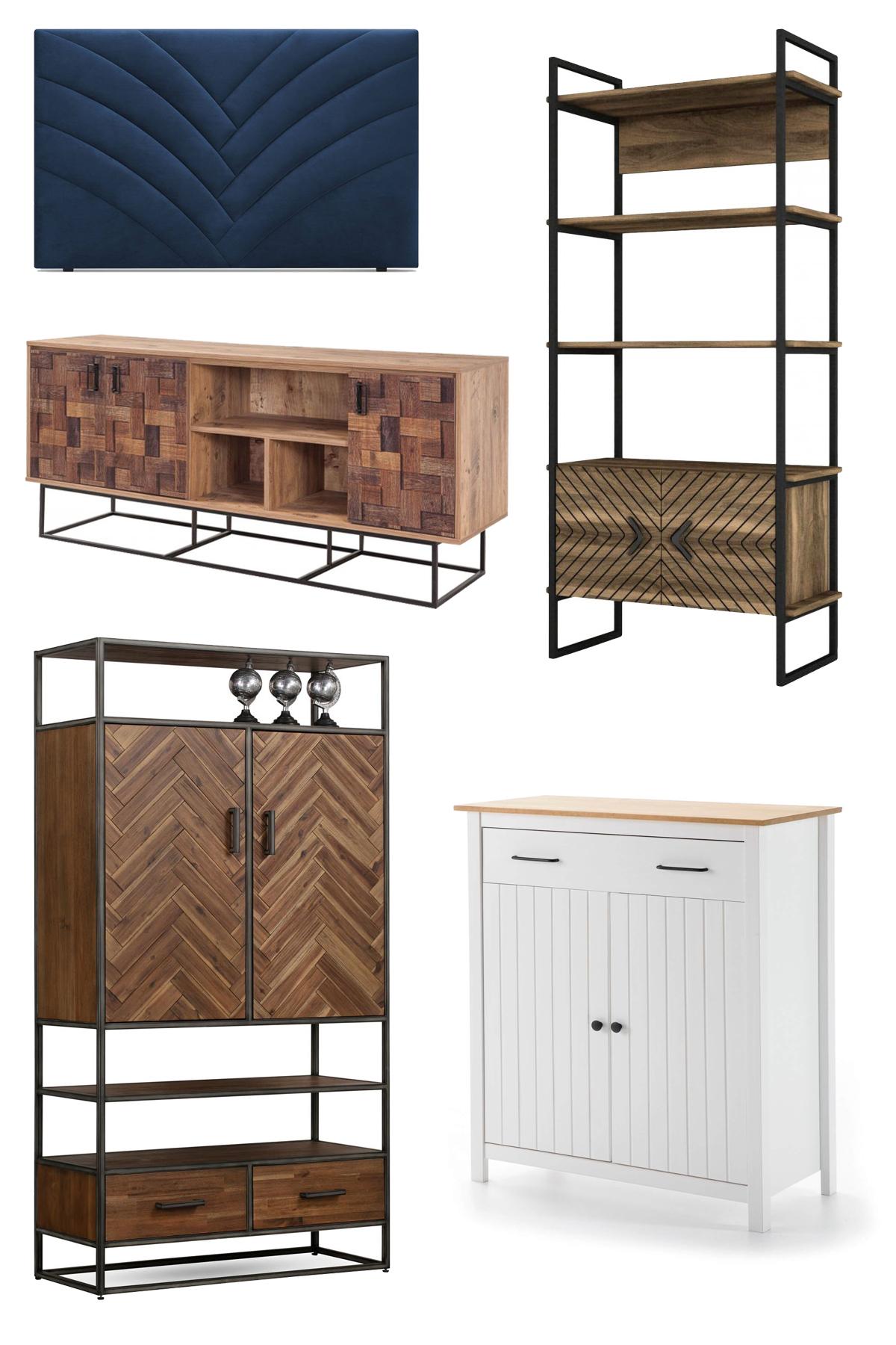 Sélection meubles en relief chevrons stries design Bobochic
