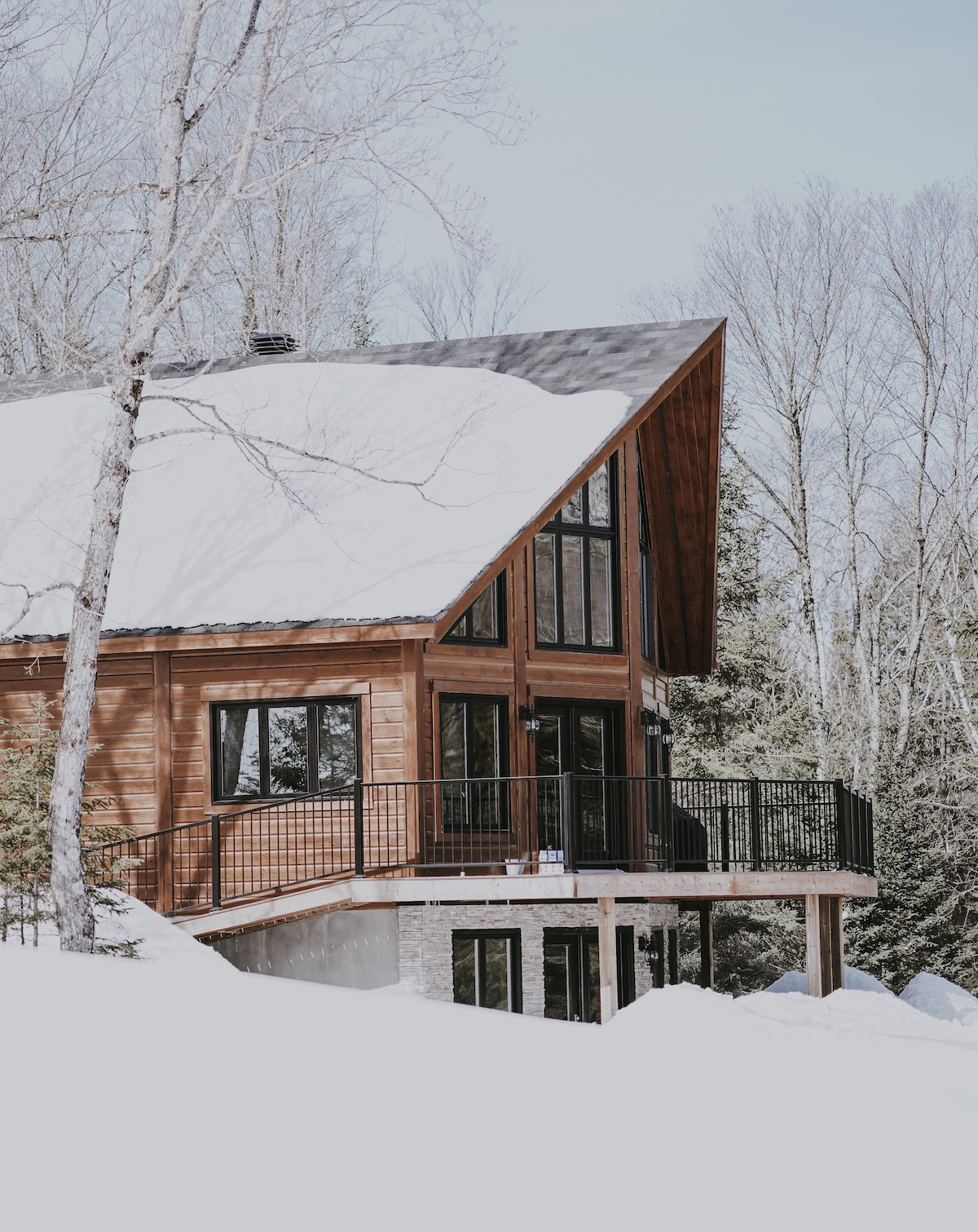 architecture Alpes maison bois bouleau design contemporain neige