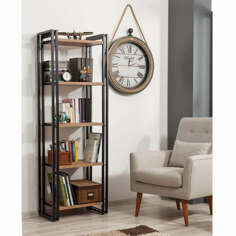 bibliothèque ouverte pin réversible style loft industriel - meuble design Bobochic