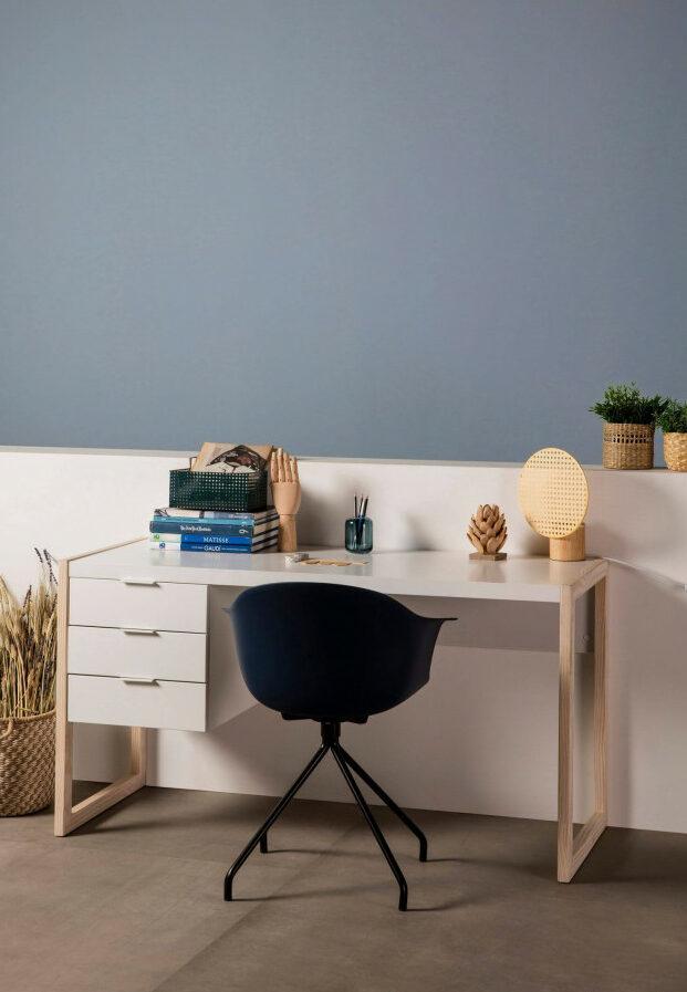chambre de jumeaux bureau séparer espace enfant meuble de couleur