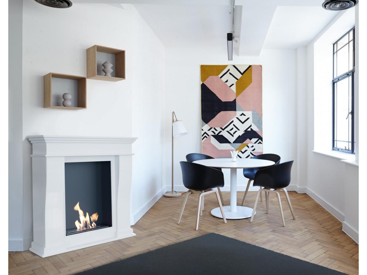 fausse cheminée design scandinave salle à manger design appartement