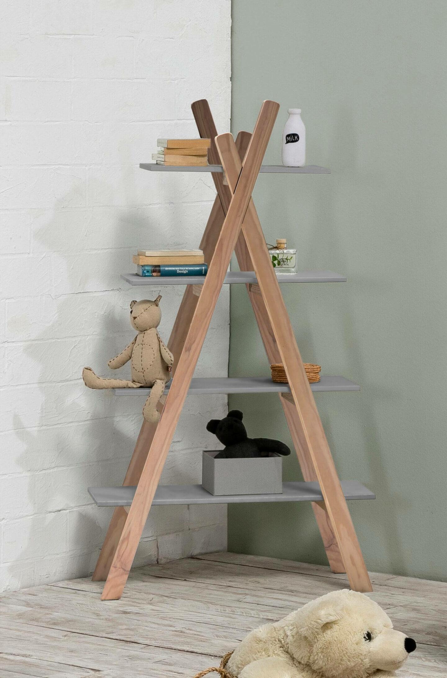 distinguer espace chambre de jumeaux meuble étagère tipi