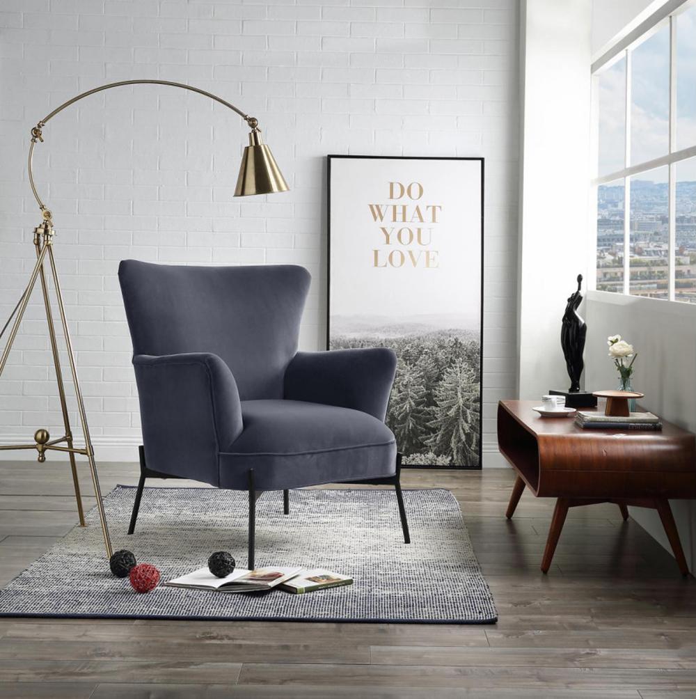 fauteuil gris design meuble moderne - bobochic
