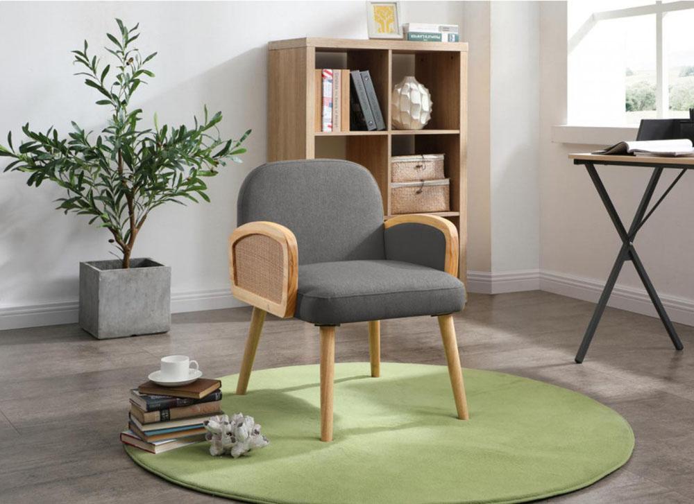 fauteuil surabaya design cannage gris design bobochic