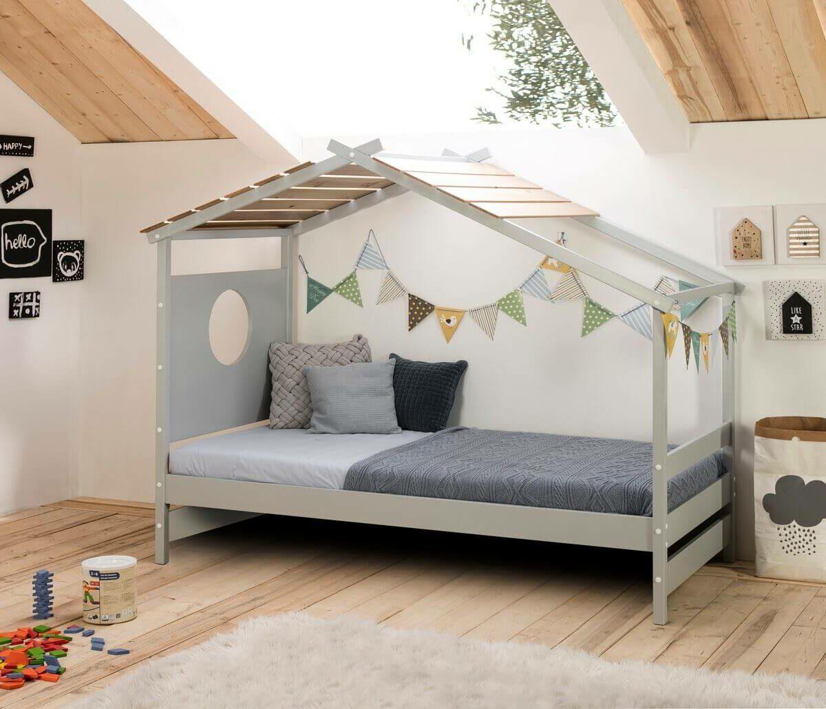 lit cabane idée meuble chambre de jumeaux deux enfants Bobochic