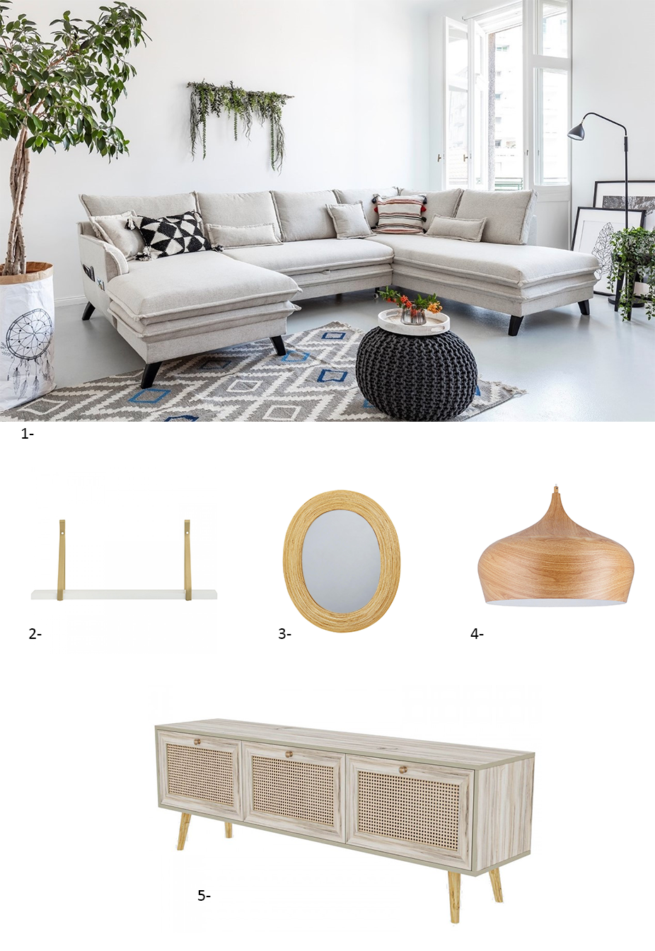 selection shopping laeticia meuble bobochic style scandinave