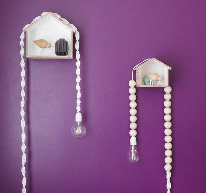blog déco diy clem around the corner lampe astuce cacher fils salon
