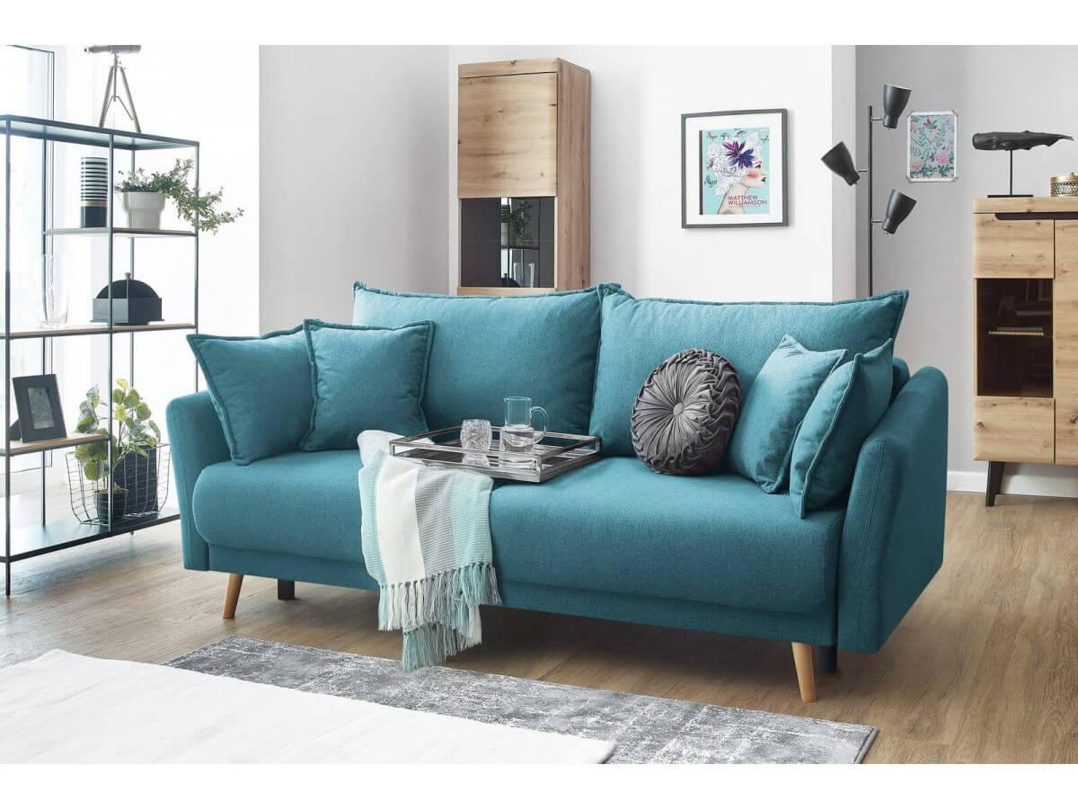 petit canapé convertible bleu mia bobohic