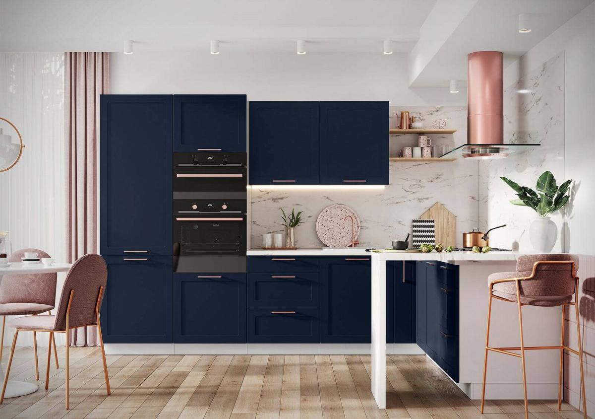 cuisine d angle complète volieta Bobochic bleu bien gérer sa cuisine au quotidien