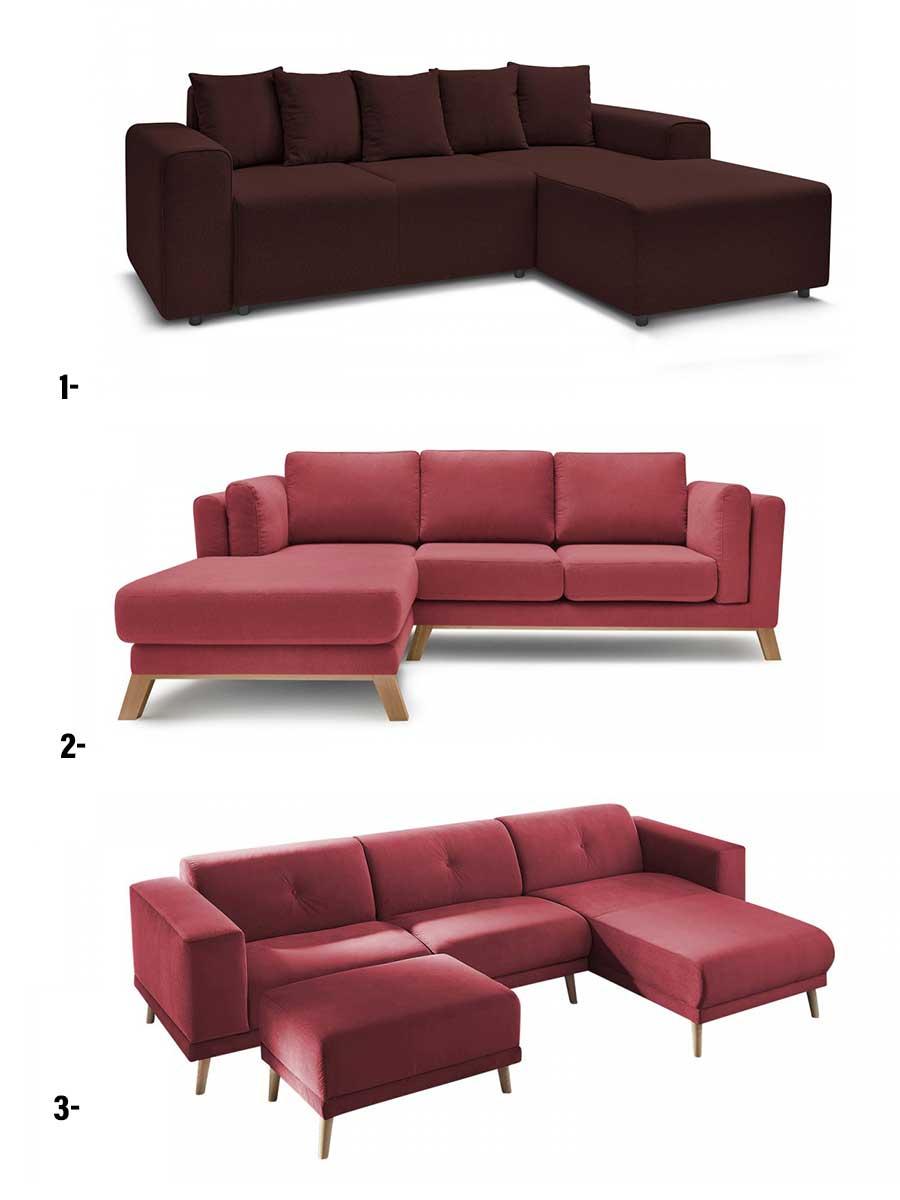 trois modèles de canapé d'angle bobochic pour aller dans un style industriel