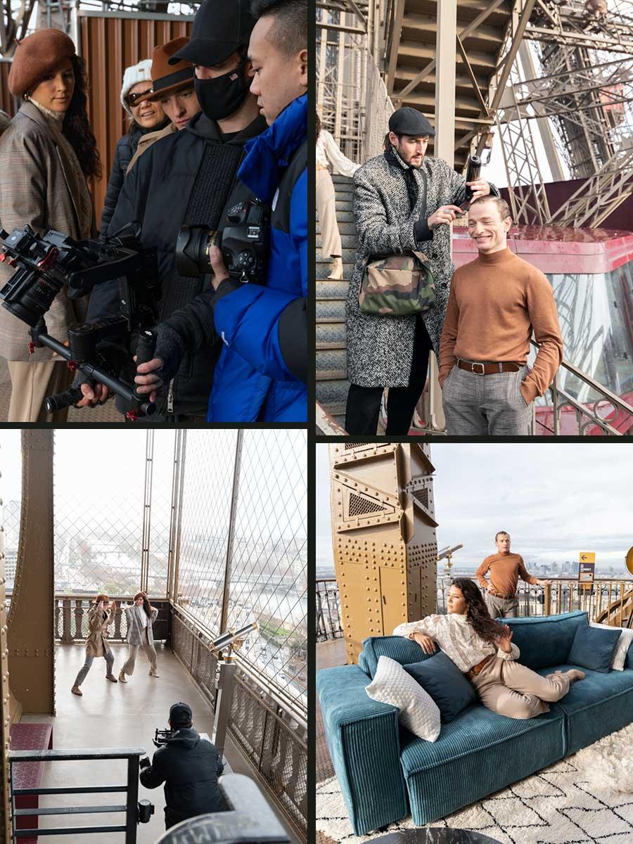 tournage video bobochic sur la tour eiffel