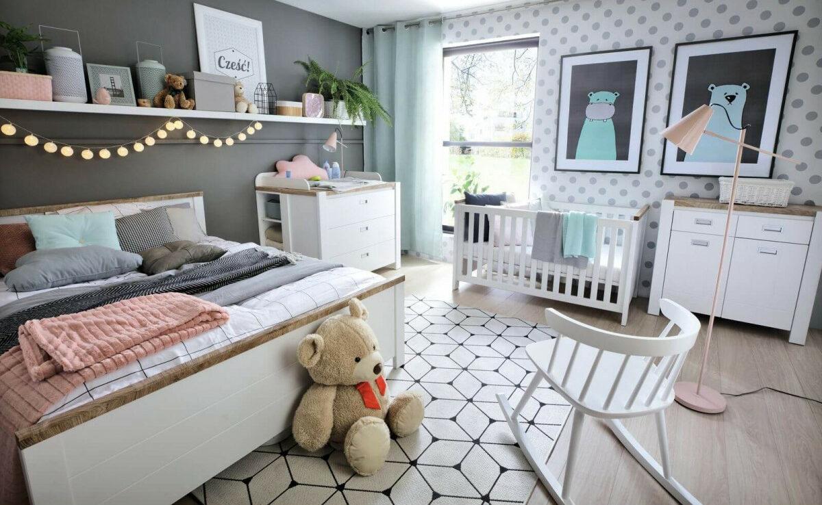 chambre parent coin bébé décoration peinture astuce