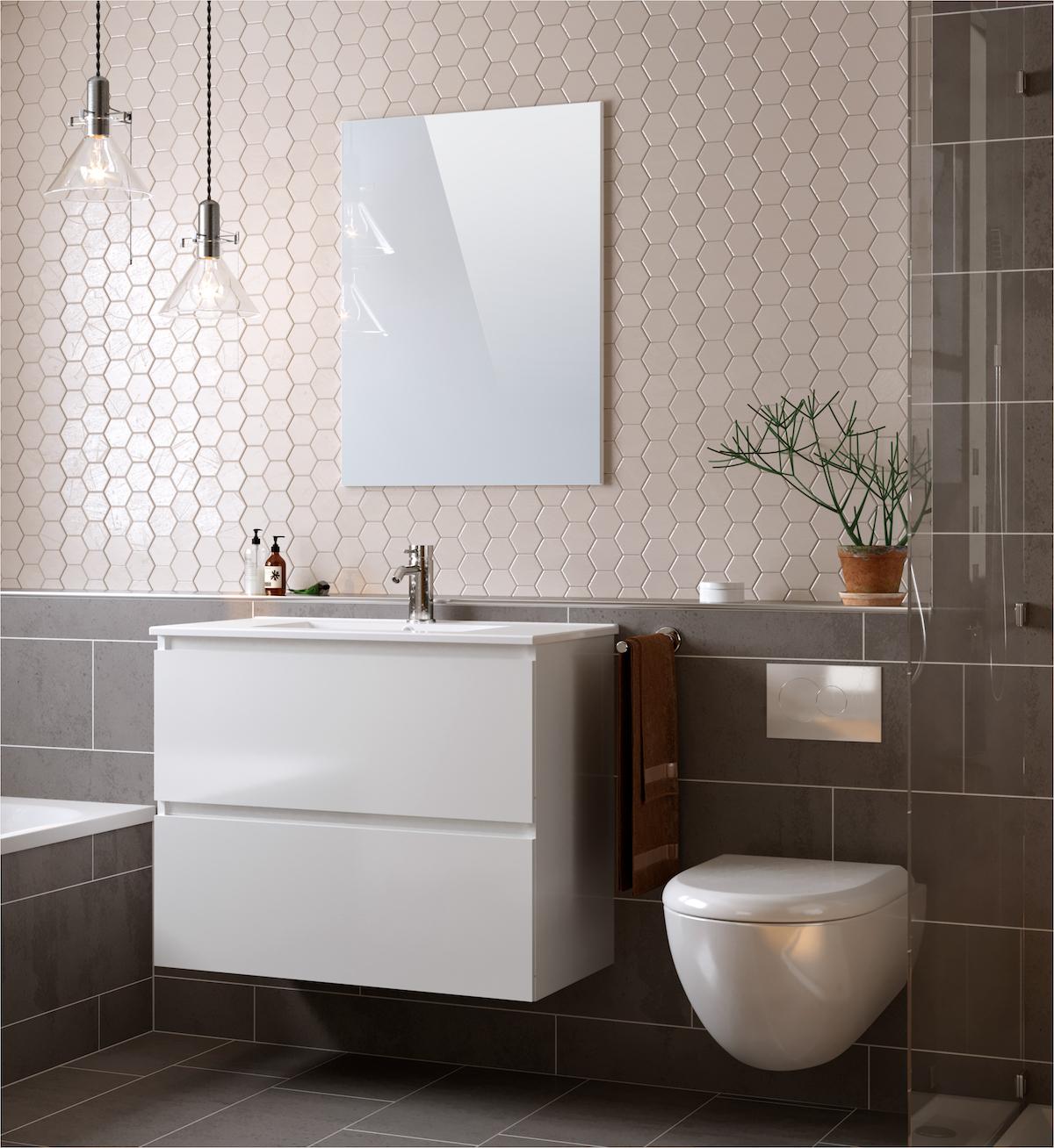 décoration minimaliste meuble douche blanc Bobochic