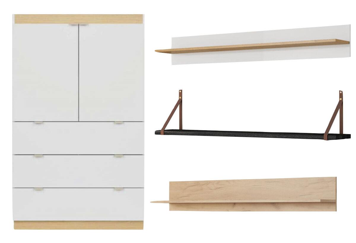 meuble penderie étagère enfant style scandinave Bobochic