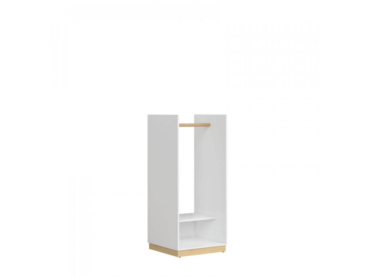 penderie ouverte agencement déco scandinave bois blanche tiroir