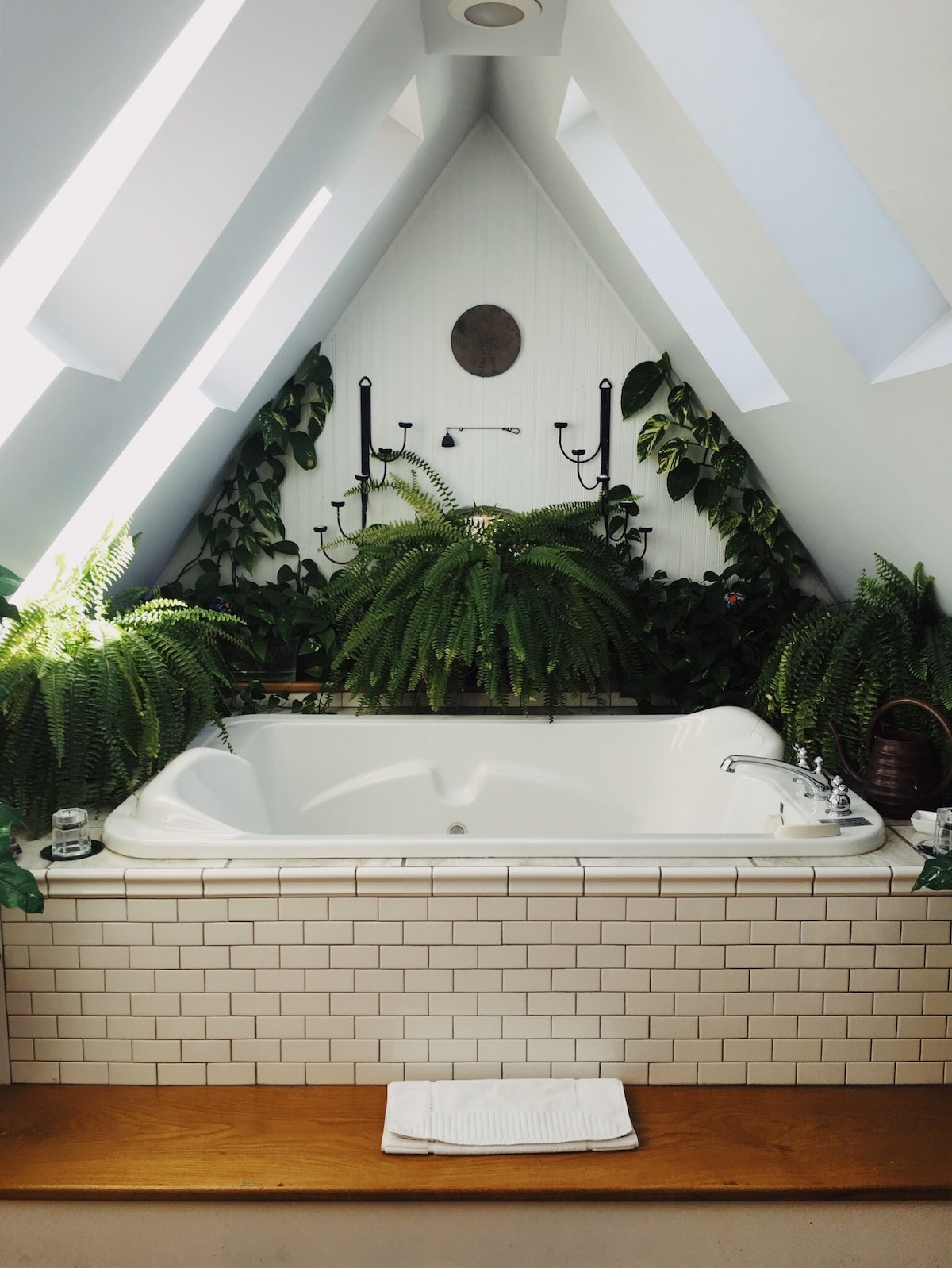 salle de bain nature urban jungle combles aménagées