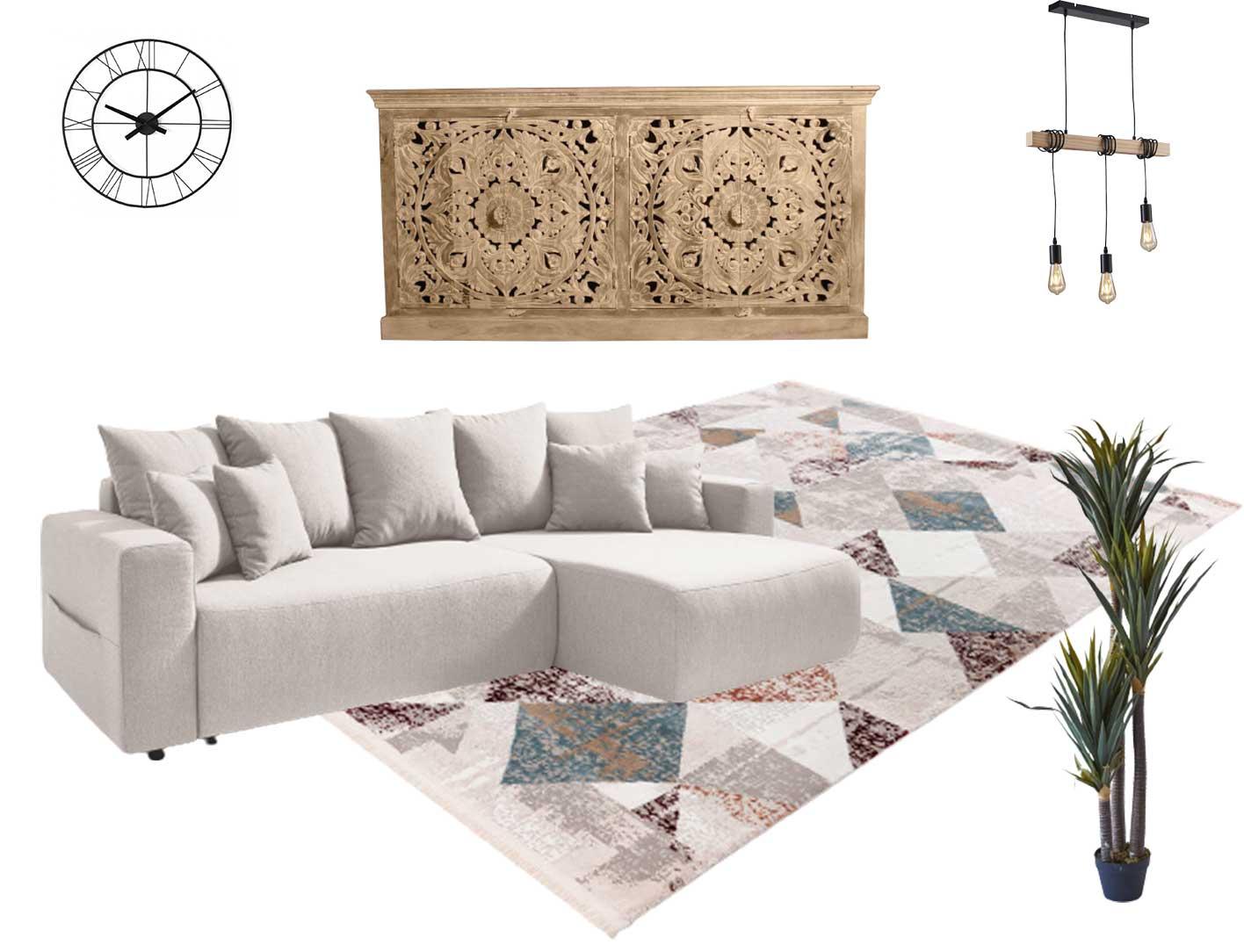 espace chaleureux avec le canapé envy et style boheme Bobochic