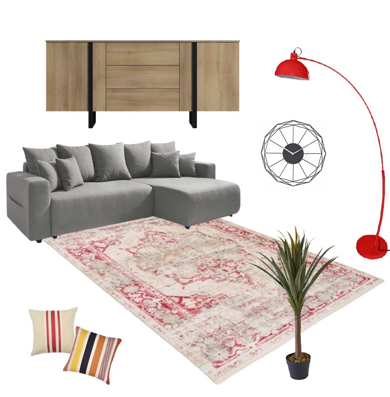 choisir un tapis de couleur avec une deco contemporaine