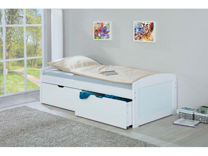 Aménager une chambre enfant avec un lit avec rangements bobochic