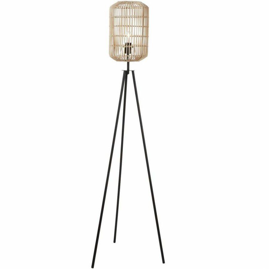 meuble rotin pour véranda lampadaire lampe pied métal osier