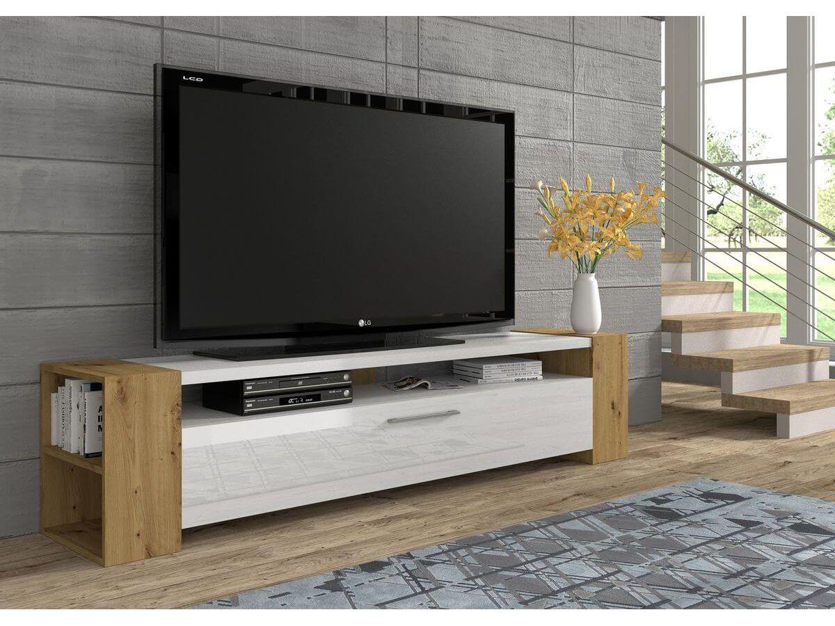 bien choisir taille format meuble tv blanc bois
