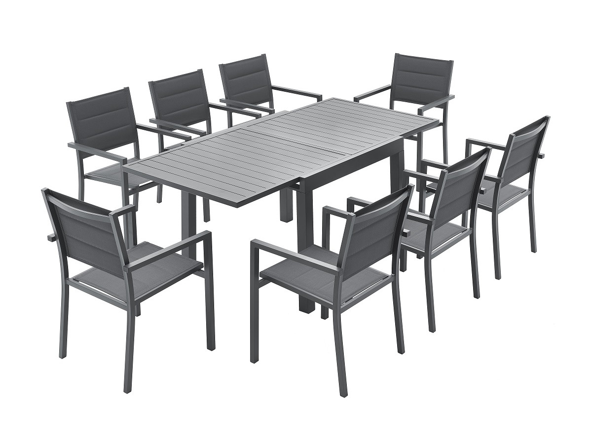 comment meubler un petit jardin table extensible 8 places
