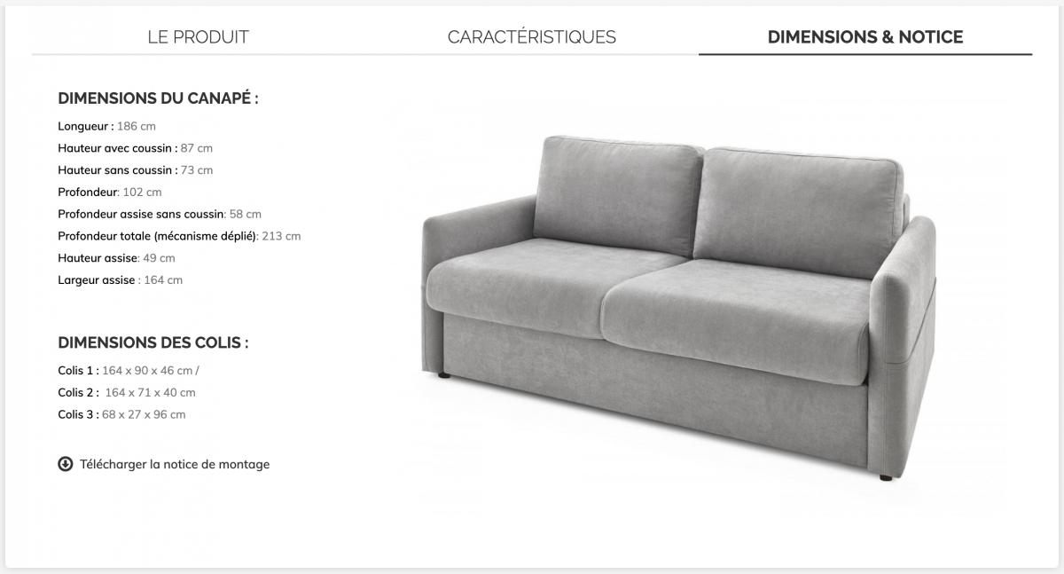 dimension carton fauteuil déménagement guide Bobochic