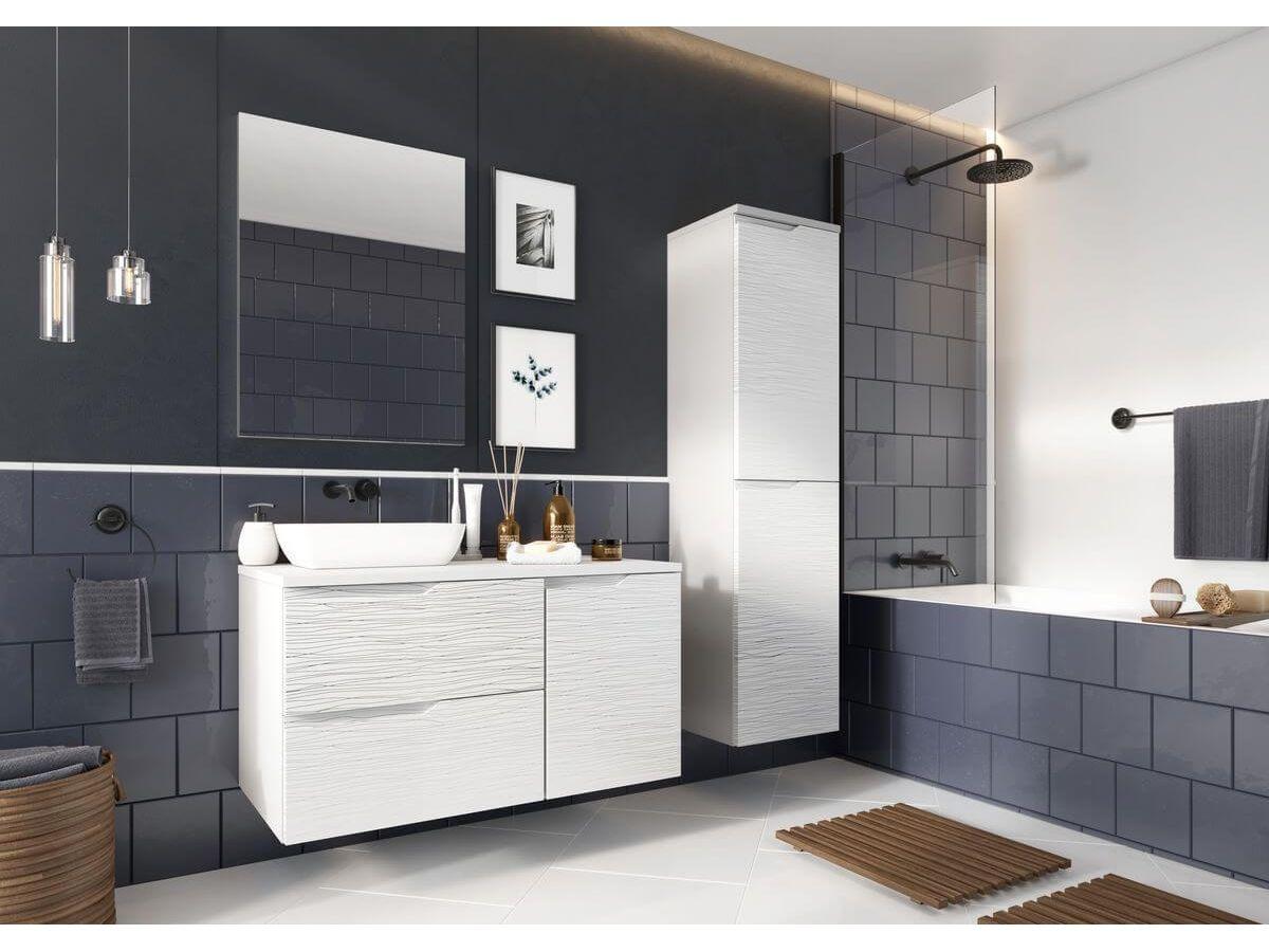 Ensemble salle de bain margo blanc avec colonne bobochic