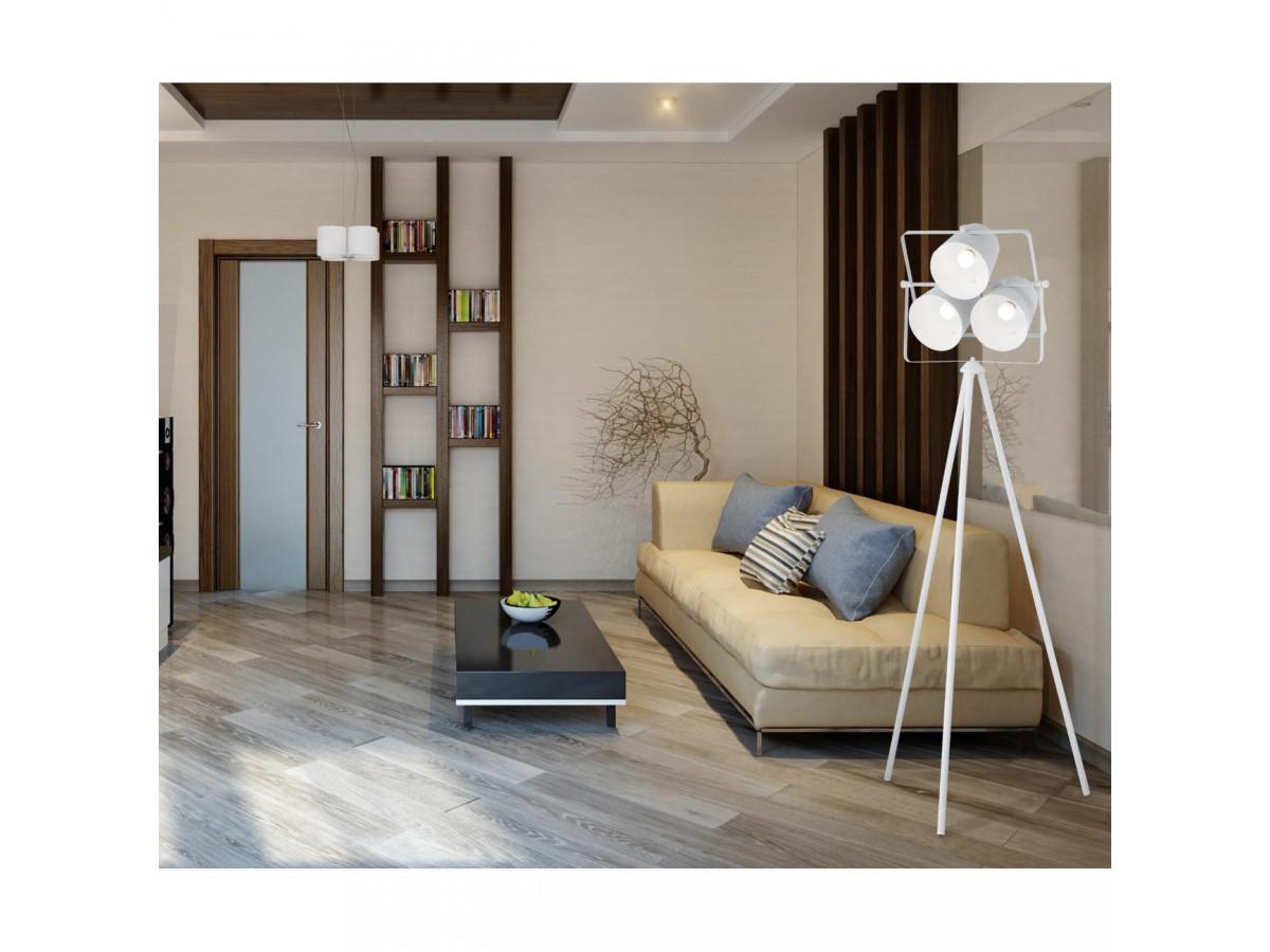 salon japonisant style minimaliste bois foncé blanc déco épurée