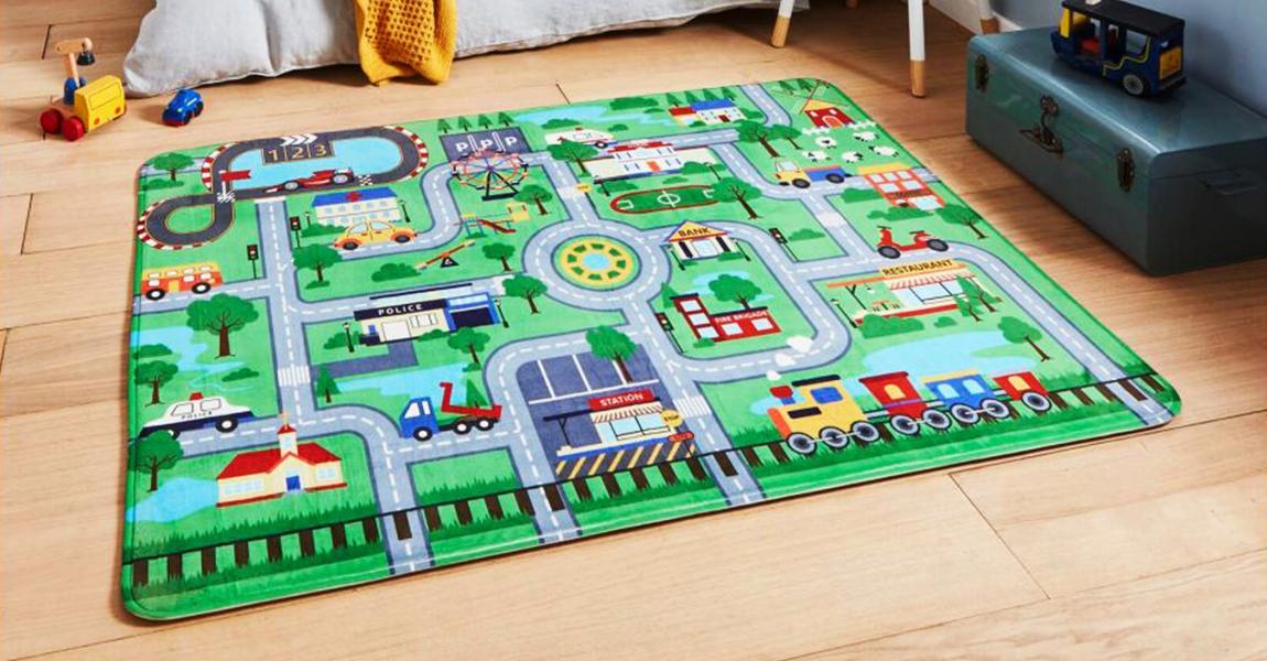 Décorer la chambre de votre enfant, avec ce tapis grand format, PLAN KID