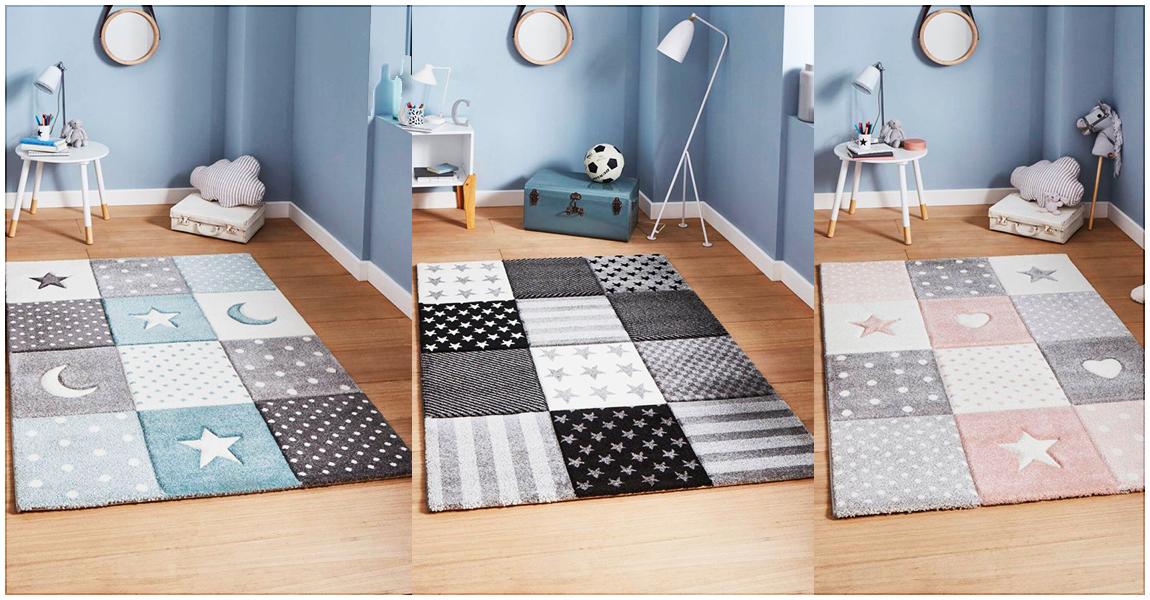 Décorer la chambre de votre enfant avec les tapis STAR et LONDON KID.