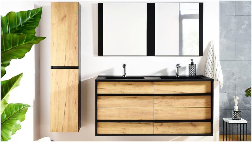 Nouveauté : la salle de bain MAHO, un design industriel et naturel à la fois.