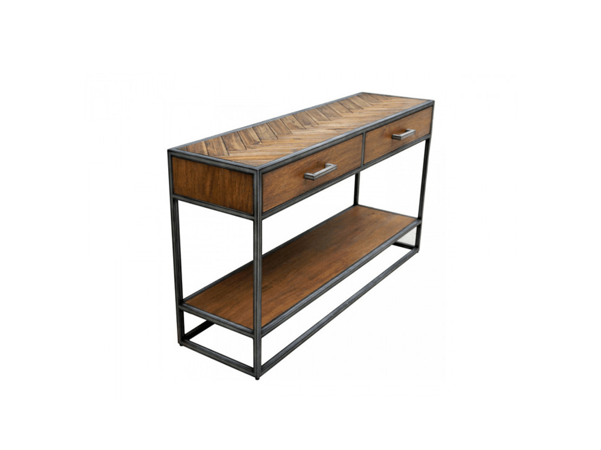 choisir meuble console entrée en bois rangement tiroir - Bobochic