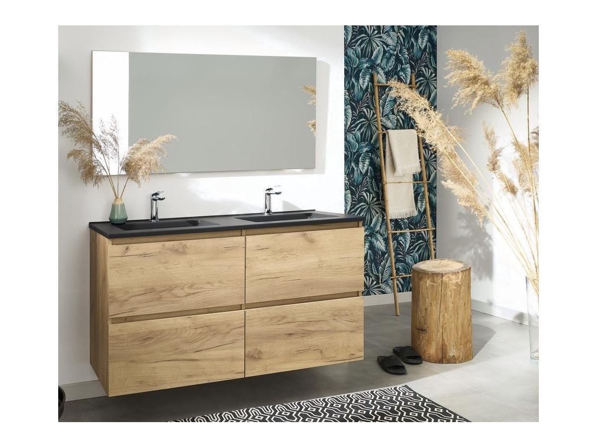 déco bohème salle de douche papier-peint tropical